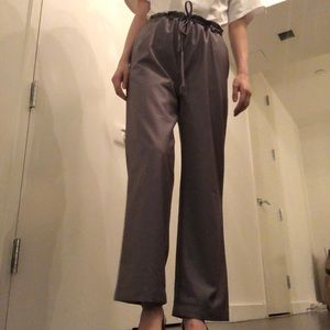 Grey loose fit trousers